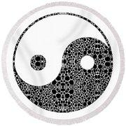 Perfect Balance 1 - Yin And Yang Stone Rock'd Art By Sharon Cummings Round Beach Towel