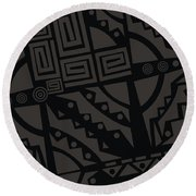 Perfect Imperfections II - Charcoal Infusion Round Beach Towel