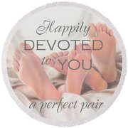 Perfect Pair Round Beach Towel