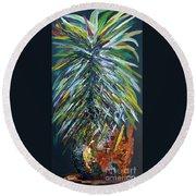 Perfect Pineapple Round Beach Towel by Eloise Schneider
