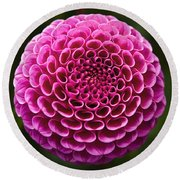 Perfect Pink Orb Round Beach Towel
