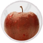 Perfect Red Apple Round Beach Towel