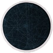Perfect Square Round Beach Towel by Jason Padgett
