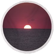 Perfect Sunrise Round Beach Towel