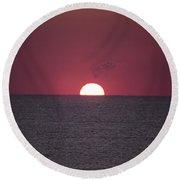 Perfect Sunrise Round Beach Towel by Nelson Watkins