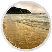 Perfect Sunset Beach Round Beach Towel