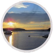 Perfect Sunset Round Beach Towel