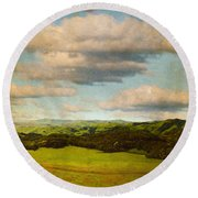 Perfect Valley Round Beach Towel