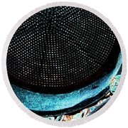 Perforated I Round Beach Towel