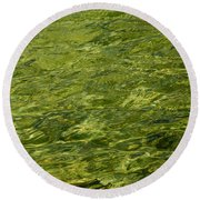 Peridot Round Beach Towel
