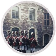 Period Soldiers Round Beach Towel by Joana Kruse