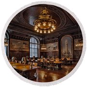 Periodicals Room New York Public Library Round Beach Towel