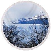 Perito Moreno Glacial Landscape Round Beach Towel