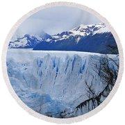 Perito Moreno Glacier Round Beach Towel