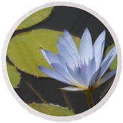 Periwinkle Lily Round Beach Towel