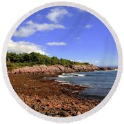 Perkins Cove Round Beach Towel