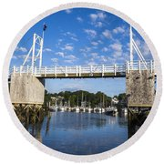 Perkins Cove - Maine Round Beach Towel