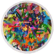 Perpetual Encounter With Providence 4 Round Beach Towel