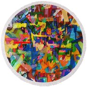 Perpetual Encounter With Providence 7b Round Beach Towel