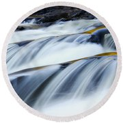 Perpetual Falling Round Beach Towel by Aimelle