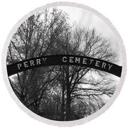 Perry Cemetery Round Beach Towel