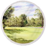 Perry Golf Course Florida  Round Beach Towel