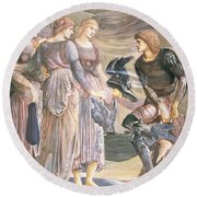 Perseus And The Sea Nymphs, C.1876 Round Beach Towel