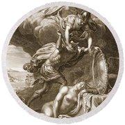 Perseus Cuts Off Medusas Head, 1731 Round Beach Towel