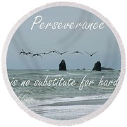 Perseverance Round Beach Towel