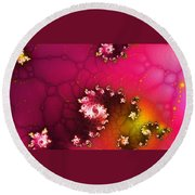 Persistent Flowers Round Beach Towel