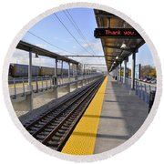 Perspective From The Series The Elements And Principles Of Art-- One Point Rail Round Beach Towel