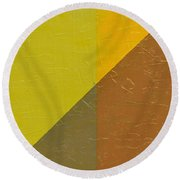 Perspective In Color Collage 10 Round Beach Towel