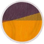 Perspective In Color Collage 11 Round Beach Towel by Michelle Calkins