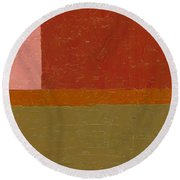 Perspective In Color Collage 12 Round Beach Towel