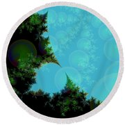 Perspective In The Forest Round Beach Towel