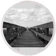 Perspective Lighthouse 1 Round Beach Towel