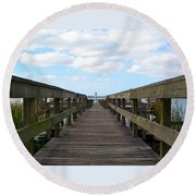Perspective Lighthouse Round Beach Towel