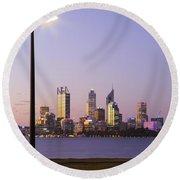 Perth 2am-004259 Round Beach Towel