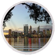 Perth 2am-110873 Round Beach Towel
