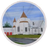Peru Congregational Church Round Beach Towel