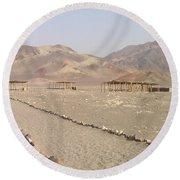 Peru Nazca Bones Site Round Beach Towel