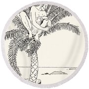 Pestonjee Bomonjee Sitting In His Palm-tree And Watching The Rhinoceros Strorks Bathing Round Beach Towel