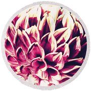 Petaled Round Beach Towel
