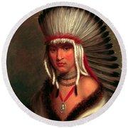Petalesharro. Generous Chief  Pawnee Round Beach Towel
