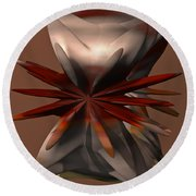 Petals And Stone Round Beach Towel