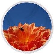 Petals For A Lady Round Beach Towel