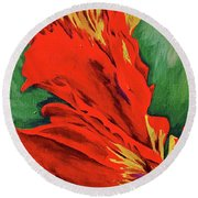 Petals Of Fire Two Round Beach Towel