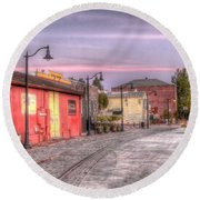 Petaluma Morning Round Beach Towel by Bill Gallagher