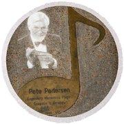 Pete Pedersen Note Round Beach Towel