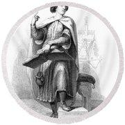 Peter Abelard (1079-1142) Round Beach Towel